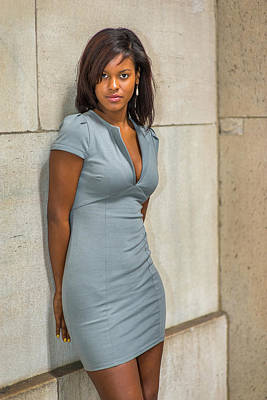Photograph - Portrait Of Young African American Businesswoman In New York by Alexander Image