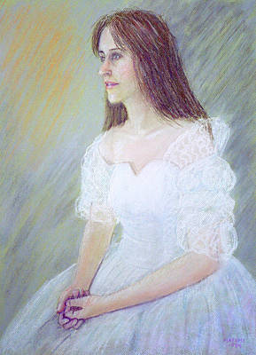 Pastel - Portrait Of Young Woman by Masami Iida