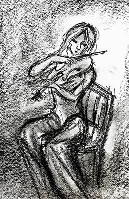Drawing - Portrait Study  by Hae Kim