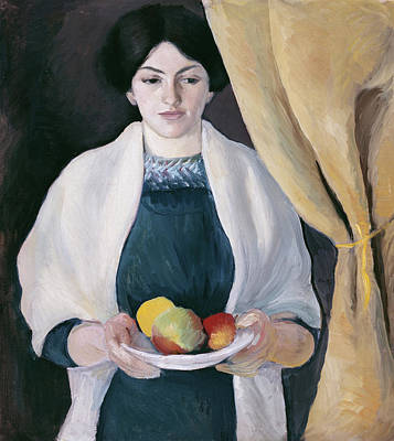 Painting - Portrait With Apples by August Macke