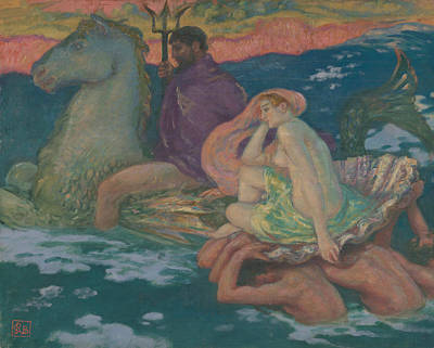 Painting - Poseidon And Amphitrite by Rupert Bunny