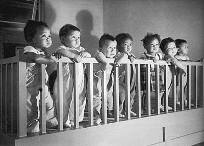 Post-war Japanese Orphanage Art Print by Underwood Archives