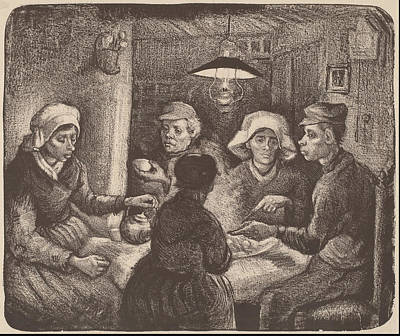 Potato Eaters 1885 Print by Vincent Van Gogh