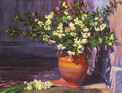 Painting - Pottery Flower Jug by David Lloyd Glover