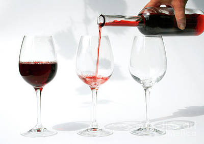 Pouring Wine Photograph - Pouring Red Wine Into Glass by Patricia Hofmeester