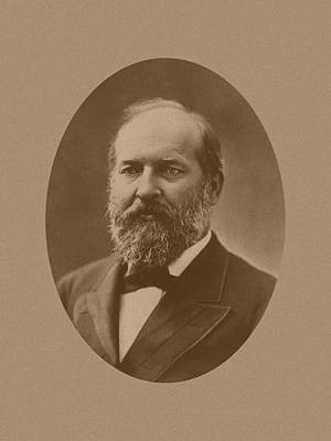President James Garfield Print by War Is Hell Store