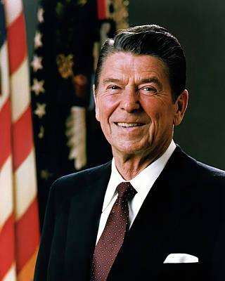 Photograph - President Ronald Reagan by Mountain Dreams