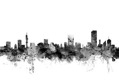 South Africa Digital Art - Pretoria South Africa Skyline by Michael Tompsett