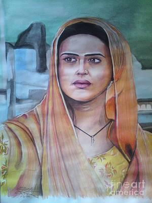 Intezaar Painting - Priety Zinta by Sandeep Kumar Sahota