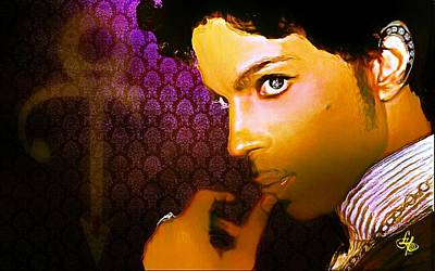 Digital Art - Prince by Lynda Payton