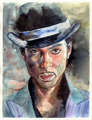Painting - Prince Rogers Nelson Portrait by Suzann's Art