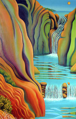 Painting - Prosperity Waterfall 2 by Barbara Stirrup