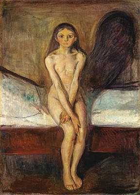 Disobedient Painting - Puberty by Edvard Munch