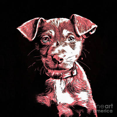 Dog Pop Art Photograph - Puppy Dog Graphic Novel Drawing by Edward Fielding