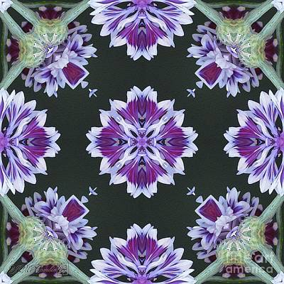 Digital Art - Purple And White Frosted Queen Abstract by J McCombie