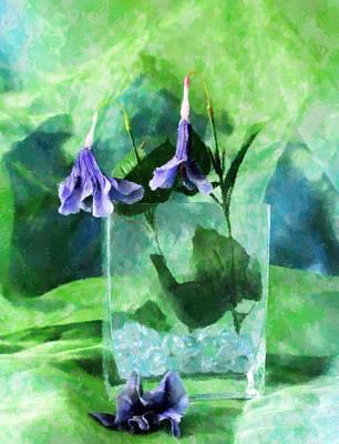 Mixed Media - Purple Flowers by Florene Welebny