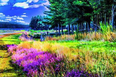 Digital Art - Purple Flowers by Rick Bragan