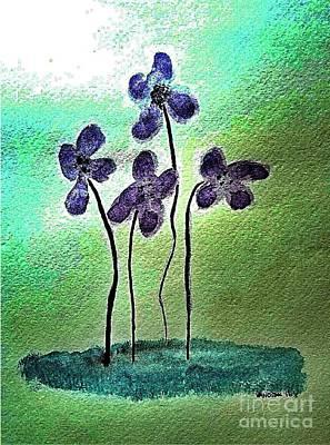 Purple Flowers Original by Scott D Van Osdol