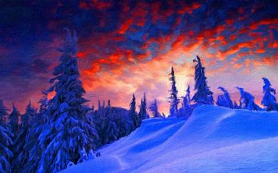 A Summer Evening Landscape Digital Art - Q Landscape by Victoria Landscapes