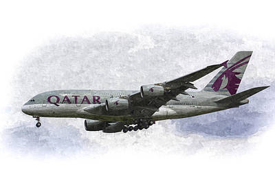 Photograph - Qatar Airlines Airbus Art by David Pyatt