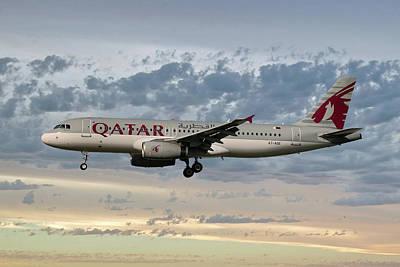 Jet Photograph - Qatar Airways Airbus A320-232 by Smart Aviation