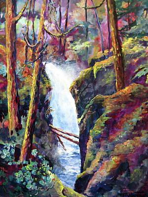Painting - Qualicum Falls by Bonny Roberts
