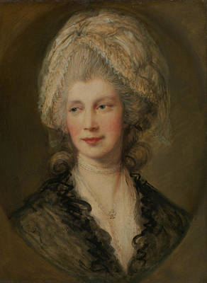 Charlotte Painting - Queen Charlotte by Thomas Gainsborough