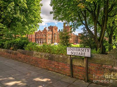 Photograph - Queen's University, Belfast by Jim Orr