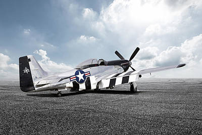 Digital Art - Quick Silver P-51 by Peter Chilelli