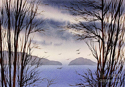 Art Print featuring the painting Quiet Shore by James Williamson