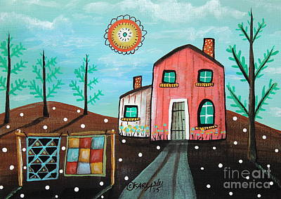 2 Quilts Art Print by Karla Gerard