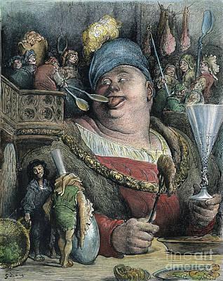 Drawing - Rabelais Gargantua by Gustave Dore