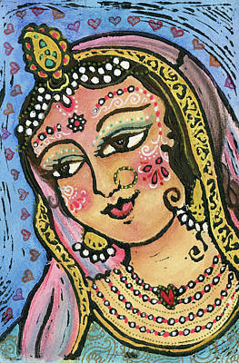Mixed Media - Radha by Jennifer Mazzucco