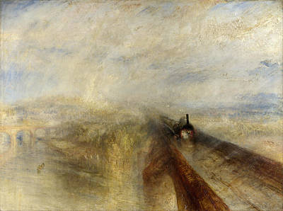 Steam Painting - Rain, Steam And Speed by JMW Turner