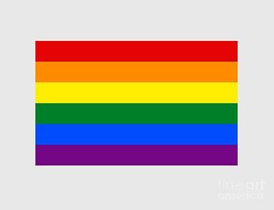 Rainbow Flag Art Print by Frederick Holiday