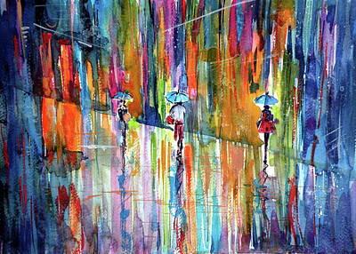 Raining Art Print by Kovacs Anna Brigitta