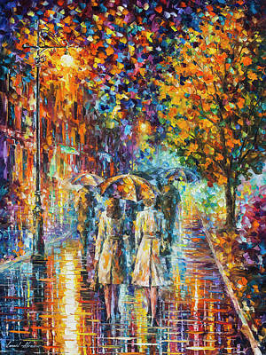 Painting - Rainy Evening by Leonid Afremov