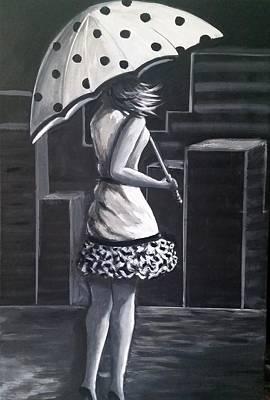 Painting - Rainy Night by Rosie Sherman