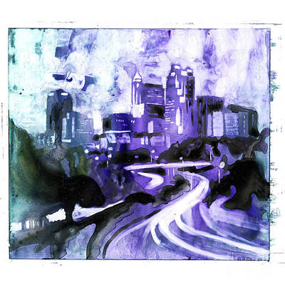 Painting - Raleigh Downtown by Ryan Fox