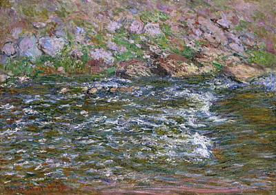 Cascade Painting - Rapids On The Petite Creuse At Fresselines by Claude Monet