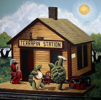 Recreation Of Terrapin Station Album Cover By The Grateful Dead Art Print