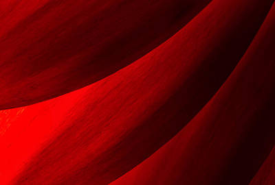 Photograph - Red Abstract Of Chrysanthemum Petals by John Williams