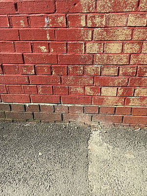 Aging Photograph - Red Brick Wall by Tom Gowanlock