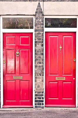 Neighbour Photograph - Red Doors by Tom Gowanlock