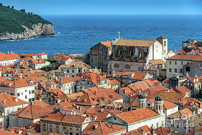 Photograph - Red Roofs Of Dubrovnik, Kings Landing In Game Of Thrones, From The City Walls, Dubrovnik, Croatia by Global Light Photography - Nicole Leffer