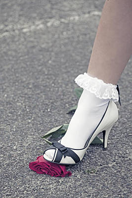 Socks Photograph - Red Rose by Joana Kruse