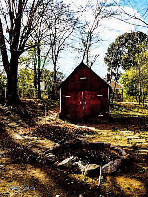 Photograph - Red Shed by Randy Sylvia