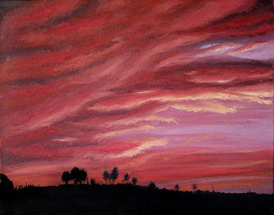 Red Skies Art Print by Michelle Fayant
