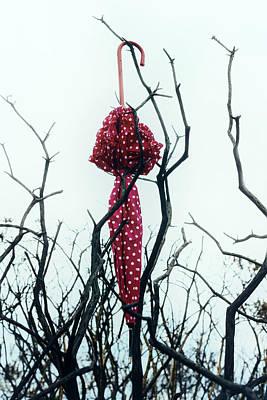 Red Umbrella Print by Joana Kruse