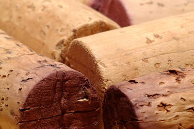 Red Wine Corks Art Print